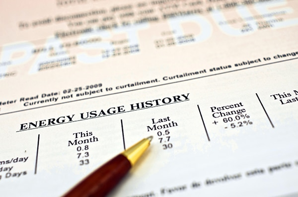 Solar electricity bill
