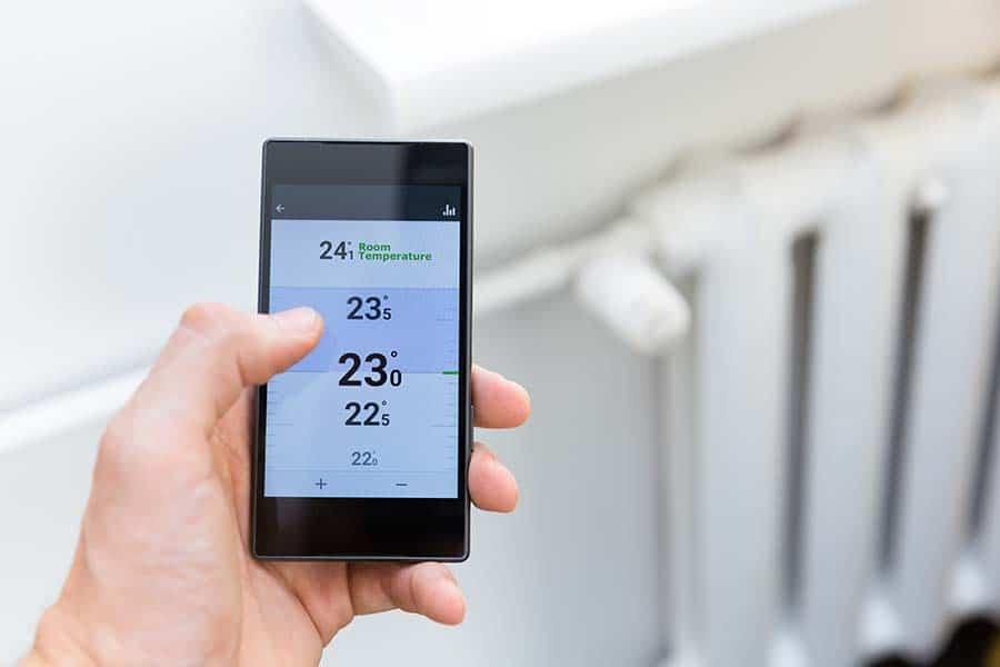 home heating through phone