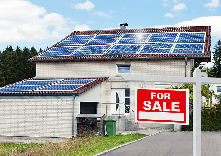 home for sale with solar panels